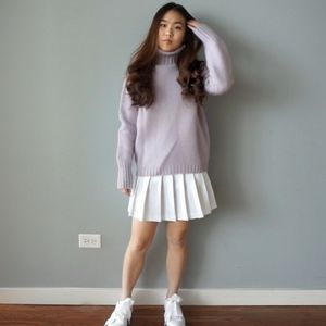 J.Crew Pastel Lilac Wool Turtleneck Sweater